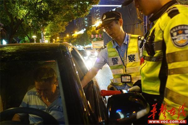 邵阳交警周末出击 八县一市三区共查43名酒驾者